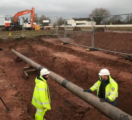 Buried oil pipelines in Cheshire